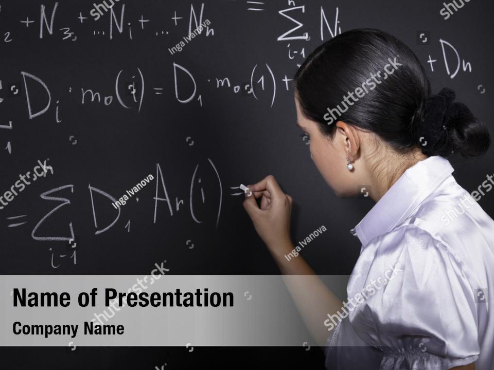 Student chemistry mathematics PowerPoint Template - Student