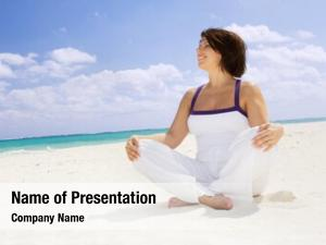 Woman meditation happy lotus pose