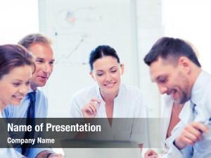 Team friendly business having meeting
