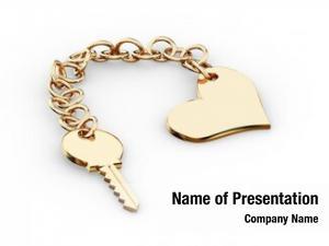 Charm gold key pendant