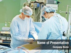 Uniform team surgeon perform heart