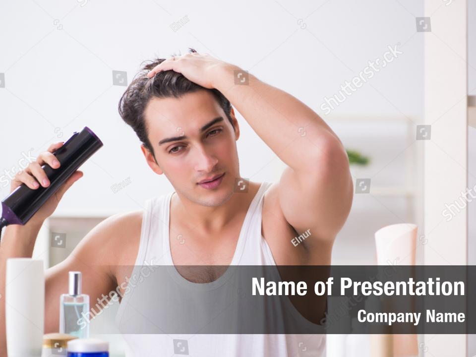 Haircare And Morning Hairstyling Powerpoint Template