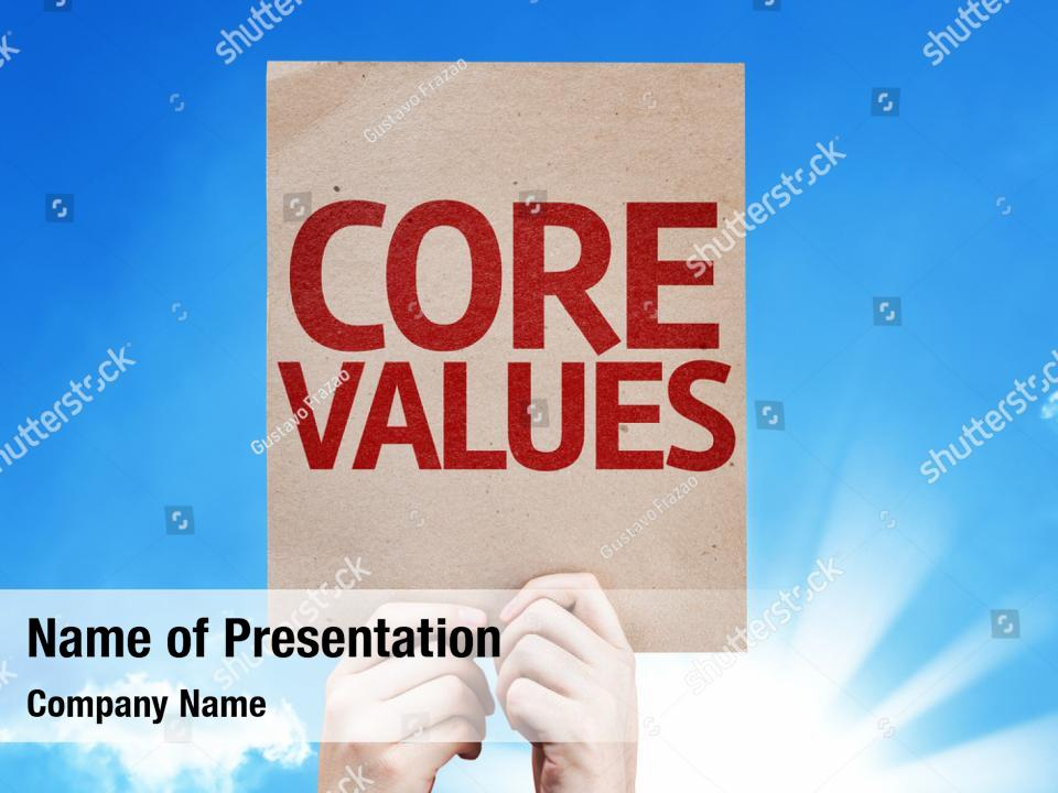 Strategic Business Core Values Powerpoint Template Strategic Business Core Values Powerpoint Background