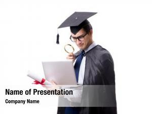White student graduate