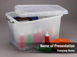 Translucent studio photography plastic box