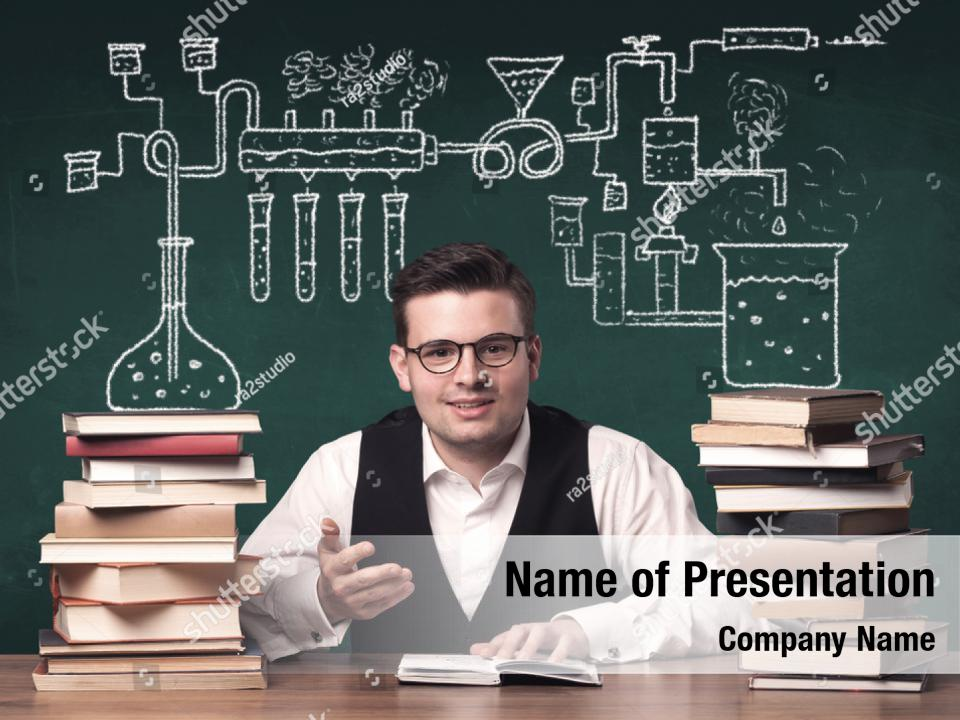 Young chemistry powerpoint background PowerPoint Template