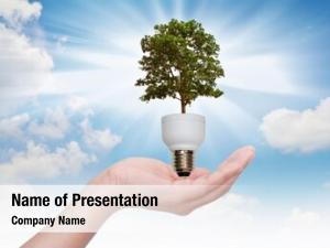 Hand light bulb (green tree