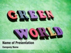 Text green world green paper