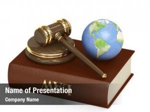 Earth judicial gavel