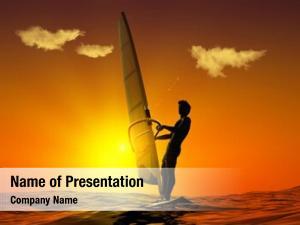 Sunset silhouette surfer