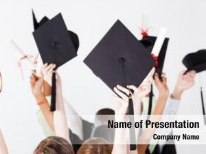 Graduation graduate holding caps certificate