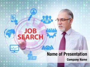 Job online recruitment search concept