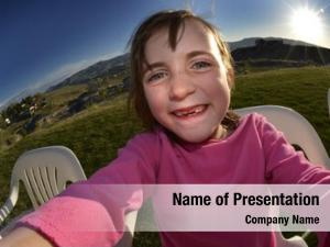 Summer little girl selfie sunshine