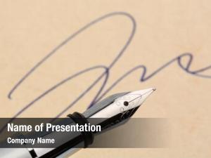 Pen signature fountain