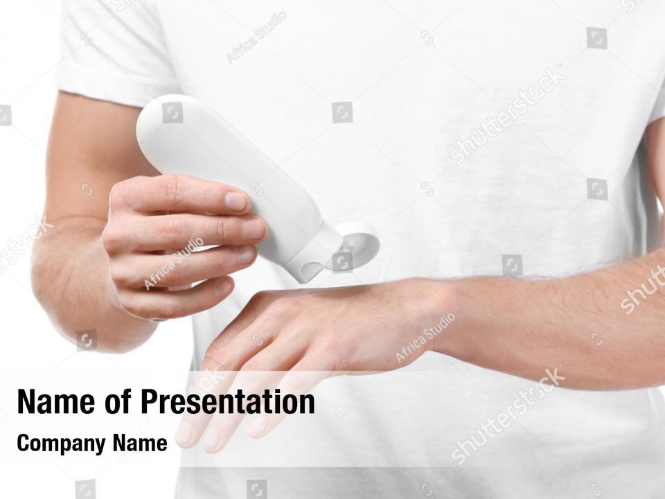 Dermatology body man applying PowerPoint Template ...
