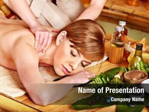 Getting blond woman aroma massage
