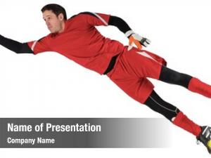 Keeper fit goal jumping white