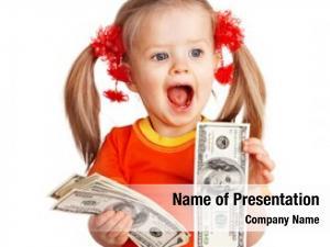 Money child girl dollar banknote