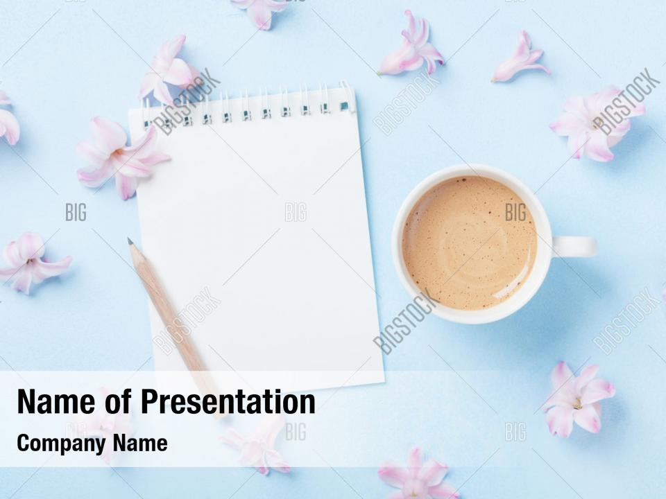 Notebook Cup Powerpoint Template Powerpoint Template