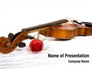 Sheet violin rose music white