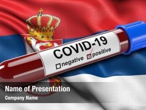 Waving flag serbia wind positive