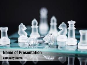 Chess checkmate glass shallow depth
