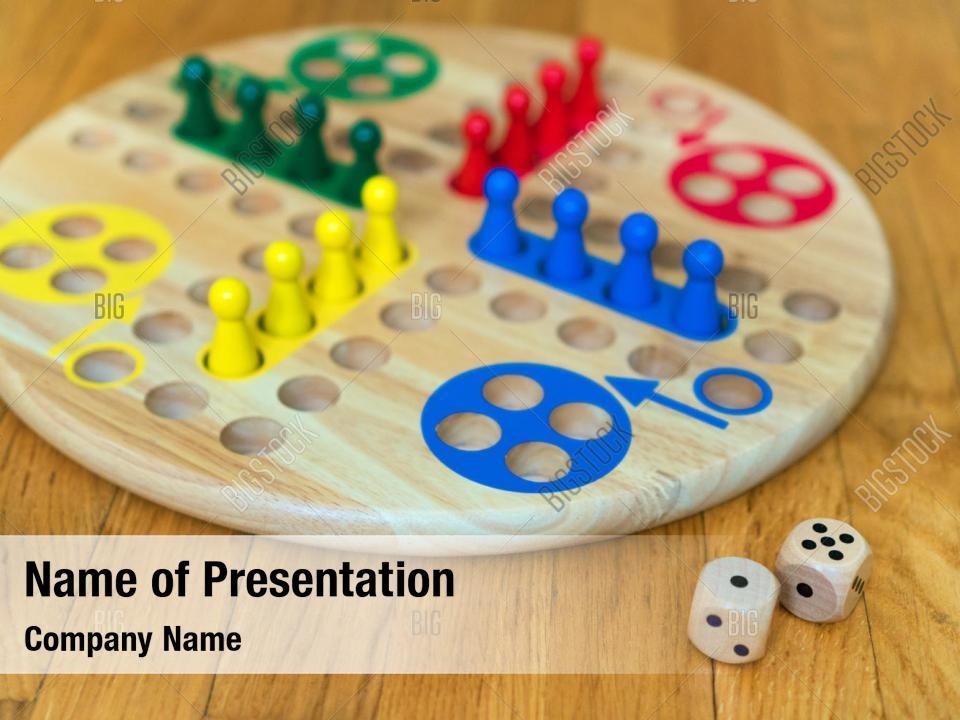 Ludo board powerpoint theme PowerPoint Template - Ludo board