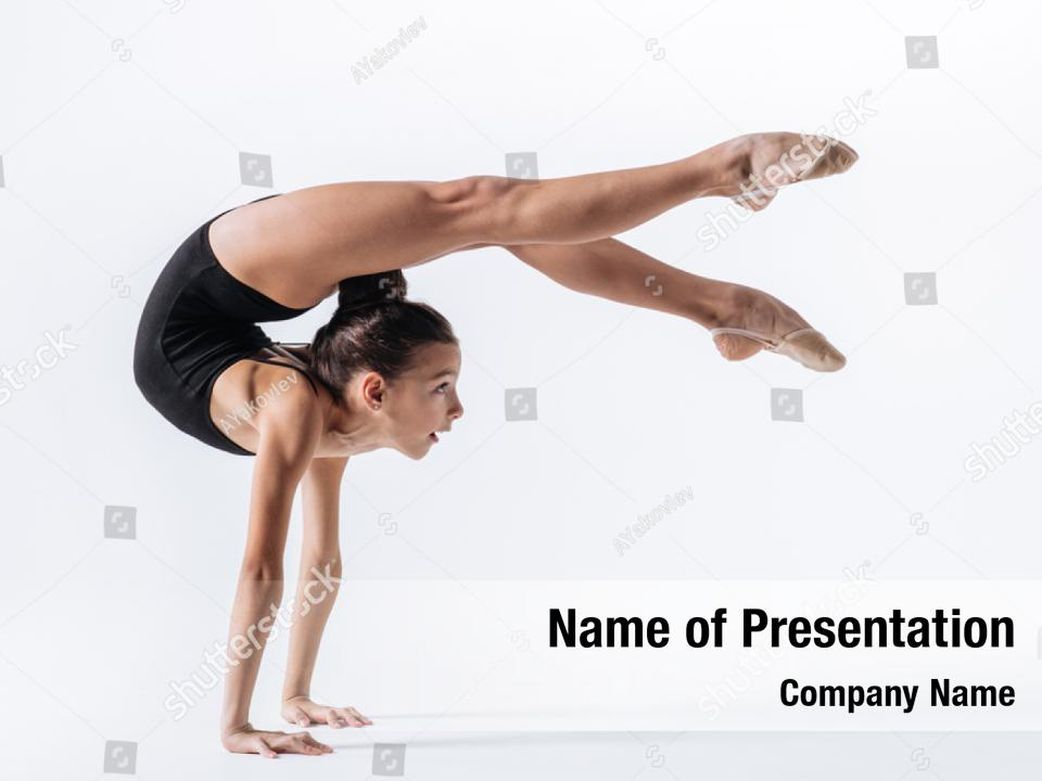 Gymnastic Girl Young Gymnast Powerpoint Template Gymnastic Girl Young Gymnast Powerpoint Background