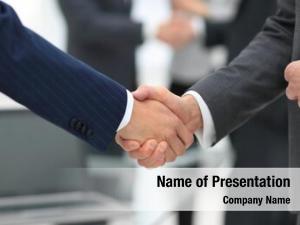 Handshaking business partners over business