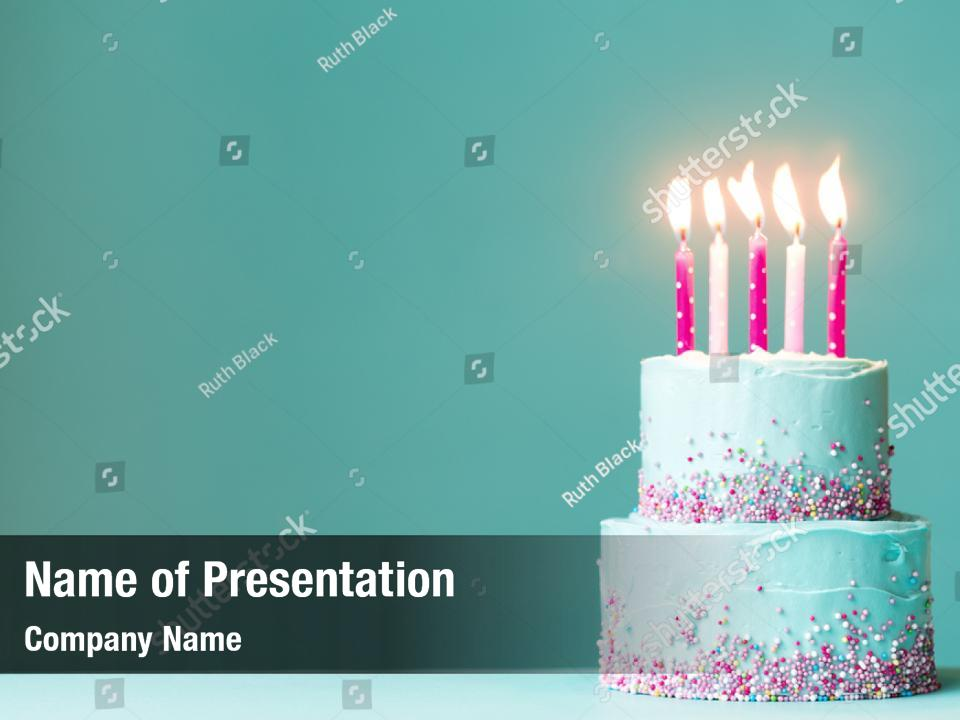 Tiered Birthday Powerpoint Template Tiered Birthday
