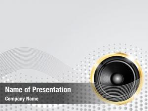 Golden modern music speaker lines