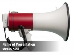 White megaphone against