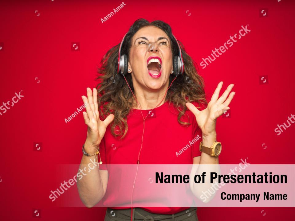 Red radio PowerPoint Template - Red radio PowerPoint Background