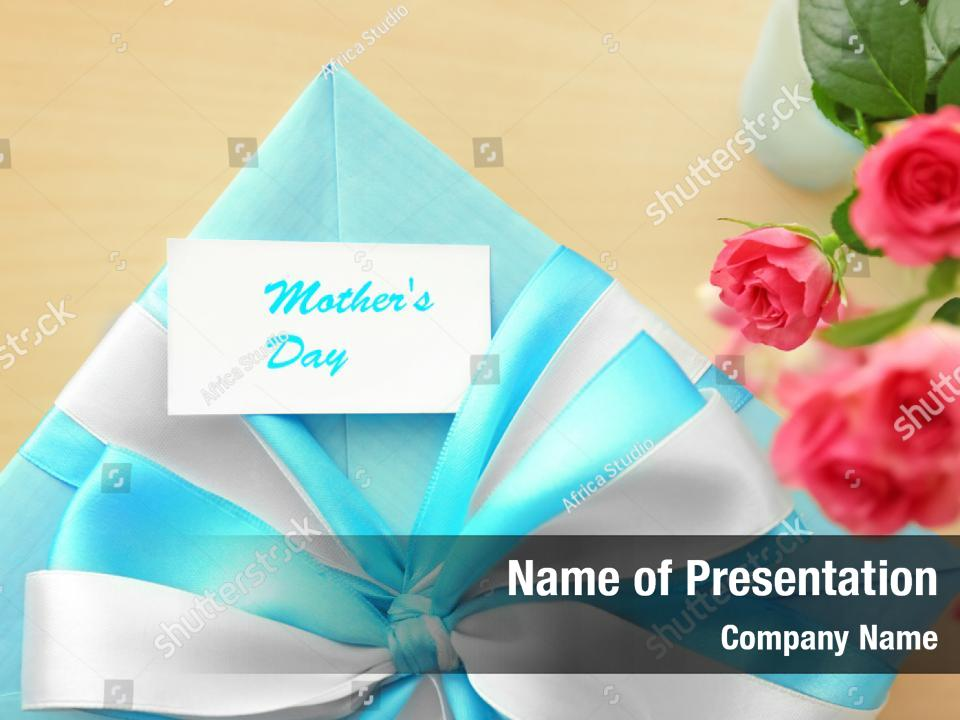 Stylish day happy mothers PowerPoint Template - Stylish day