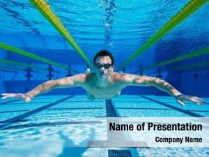 Underwater, swimmer floating underwater view