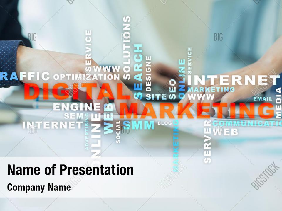 Business technology digital marketing PowerPoint Template