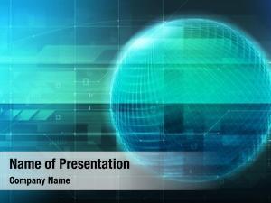 Futuristic glowing globe digital