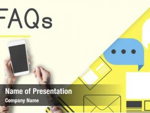 Information faq support online concept