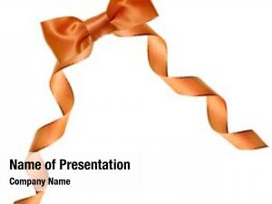 Bow orange ribbon