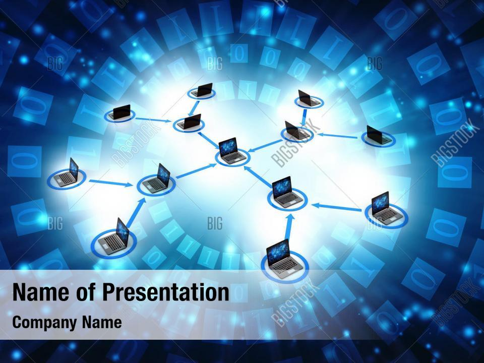 Computer network powerpoint background PowerPoint Template