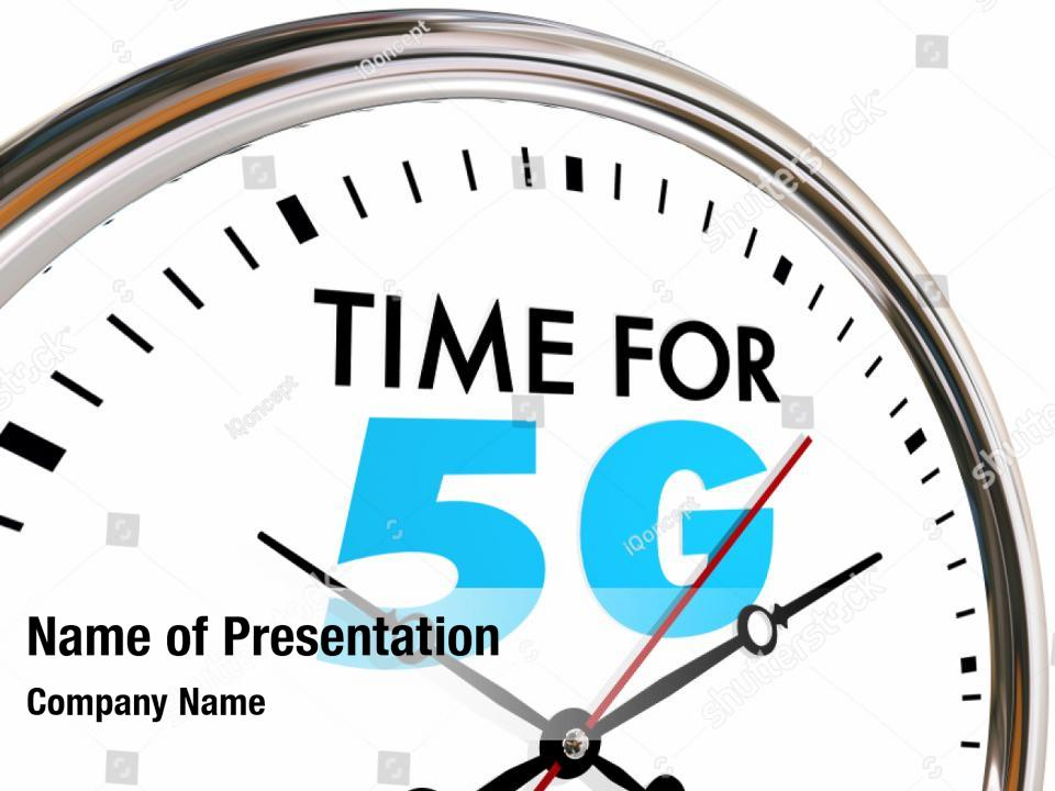 Time for 5g wireless PowerPoint Template - Time for 5g