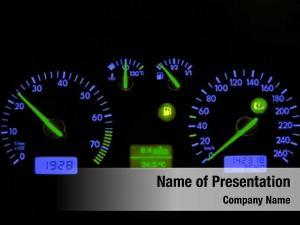 Car blue neon dash board,