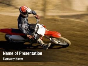 Racing motocross racer