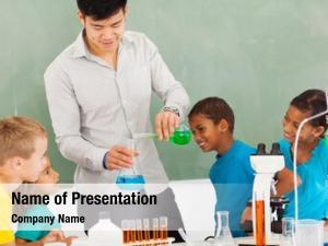 Chemistry elementary school experiment classroom