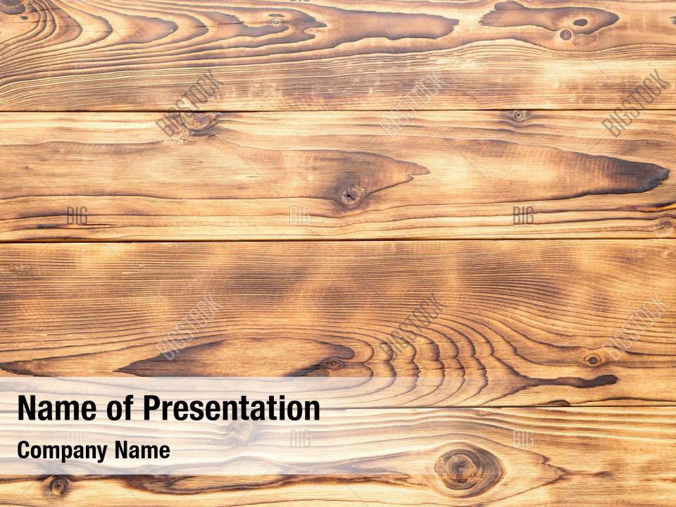 Decoration Wooden Texture Powerpoint Template Decoration