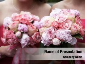 Bouquets bridal wedding flowers, blurred