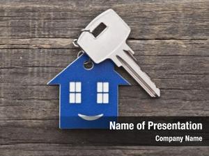 Figure key chain house key