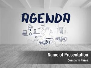 Written agenda flowchart bright room