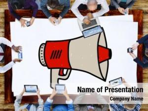 Proclaim announcement megaphone message illustration