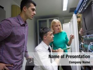 Group, business people network engeneers